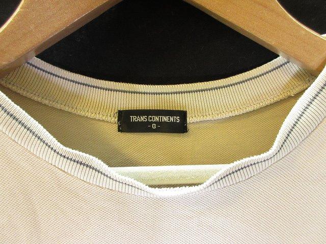 トランスコンチネンツ TRANS CONTINENTS ノースリーブ カットソー タンクトップ 無地 ベージュ 0 メンズ