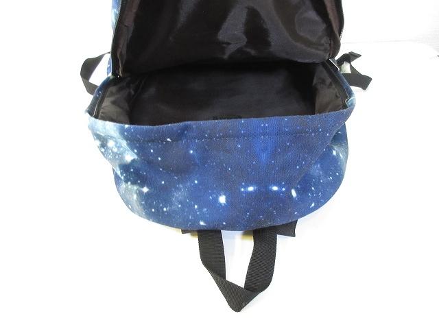 5a979f48bf8e リュック リュックサック デイパック 鞄 宇宙 コズミック コスモ 柄 総柄 ブルー 青 メンズ レディース