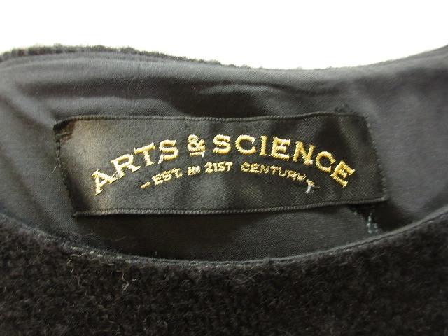 アーツ&サイエンス ARTS & SCIENCE ARTS&SCIENCE ニット ノースリーブ ワンピース ロング マキシ丈 無地 黒 ブラック 1 レディース