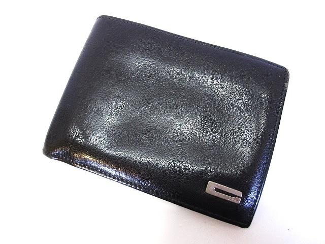 e205d04c1acd グッチ GUCCI 二つ折り 財布 レザー ロゴ 黒 ブラック 034 1502 メンズ ...