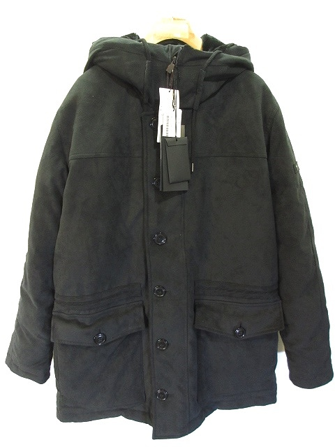 未使用品 タトラス TATRAS ビームス BEAMS 別注 TULIPANO テクニカル スエード コート MTK8BM483 ダウン フーデッド ジャケット 4 ブラック 黒 メンズ