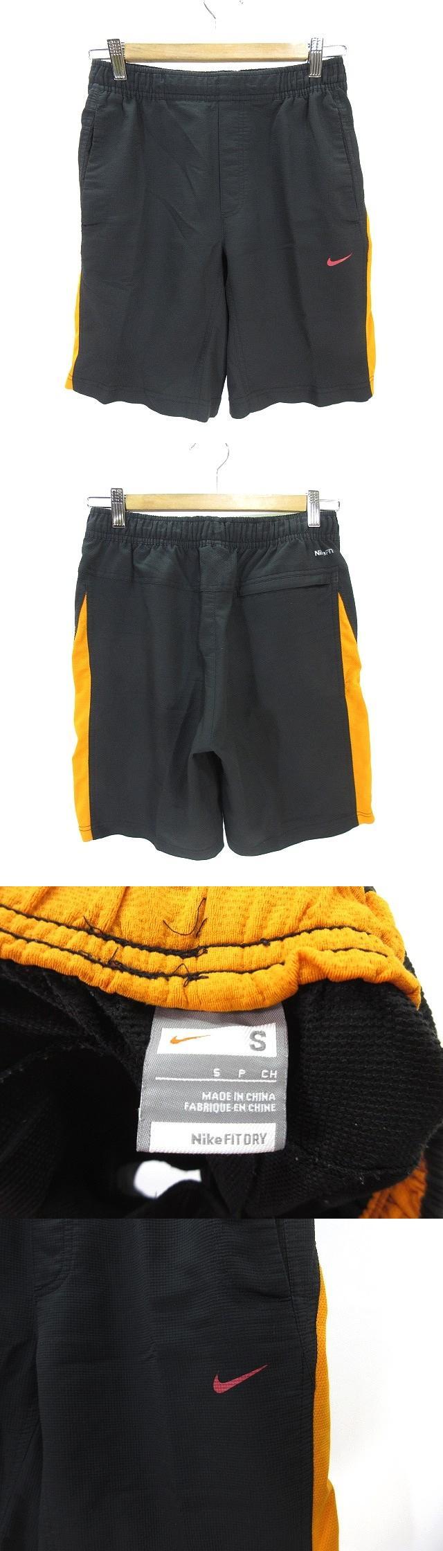 スポーツ ウェア ジャージ ハーフ パンツ ショート ショーツ FIT DRY S ネイビー オレンジ 紺 橙 国内正規