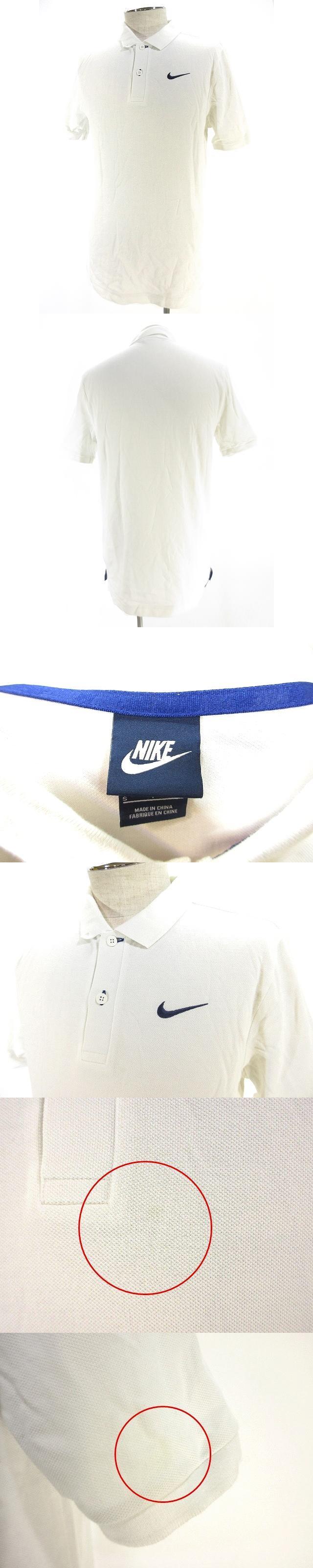 スポーツ ウェア ポロシャツ シャツ 半袖 鹿の子 ワンポイント ロゴ 刺繍 S ホワイト 白 国内正規