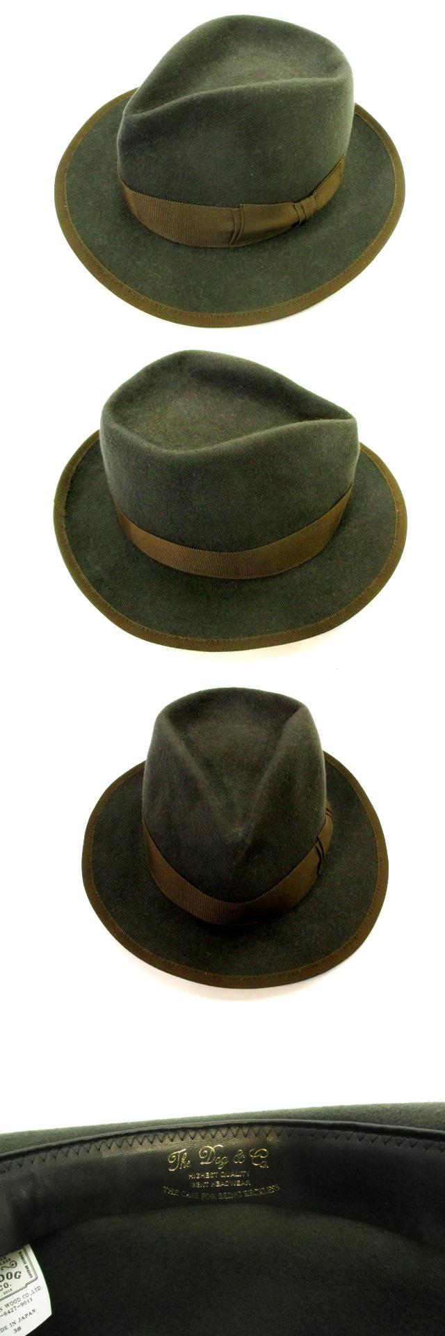 ドッグアンドコー THE H.W. DOG&CO ウールフェルト 中折れ帽 ハット 帽子 深緑 ダークグリーン