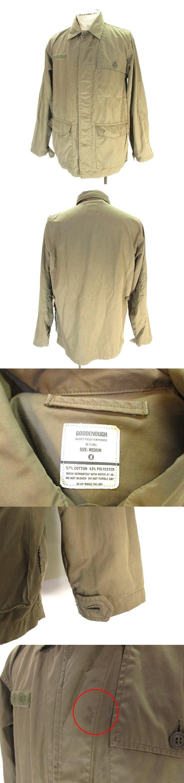 ミリタリー ブルゾン フィールド ジャケット シャツジャケット 長袖 M カーキ