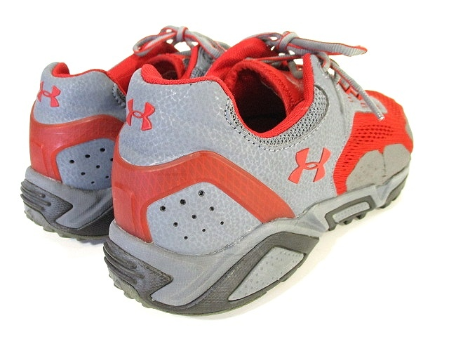 アンダーアーマー UNDER ARMOUR Glenrock Low Trail Sneaker ハイキング トレッキング シューズ スニーカー アウトドア 靴 27.5 レッド グレー メンズ