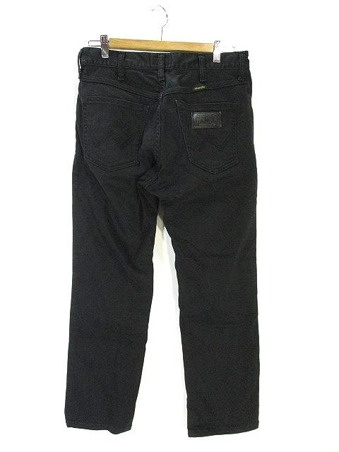 ラングラー WRANGLER カラー デニム パンツ ロング 無地 30 ブラック 黒 メンズ
