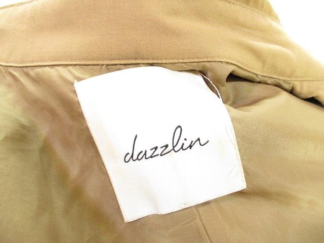 ダズリン dazzlin トレンチ コート ジャケット 無地 ベージュ M レディース