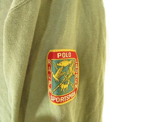 ポロ バイ ラルフローレン Polo by Ralph Lauren スウェット ジップアップ パーカー 長袖 ワッペン カーキ M 国内正規 メンズ
