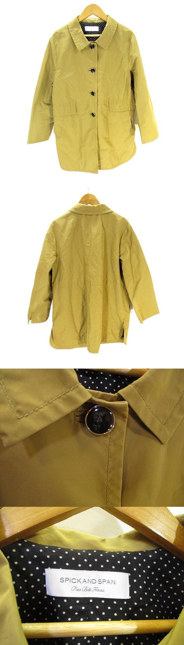 ステンカラー コート ジャケット ベージュ系  38