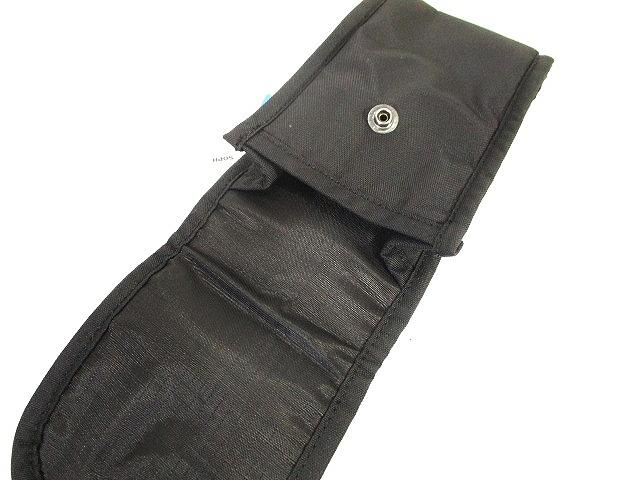 未使用品 ユニフォームエクスペリメント uniform experiment カラビナ付 ベルト ポーチ robic-air 黒 ブラック メンズ