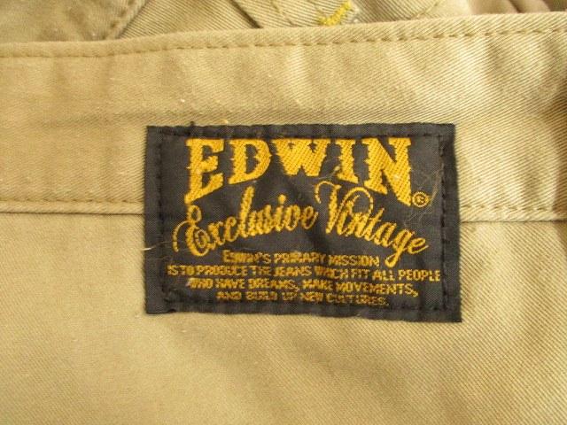 エドウィン EDWIN チノ パンツ ロング ベージュ L メンズ