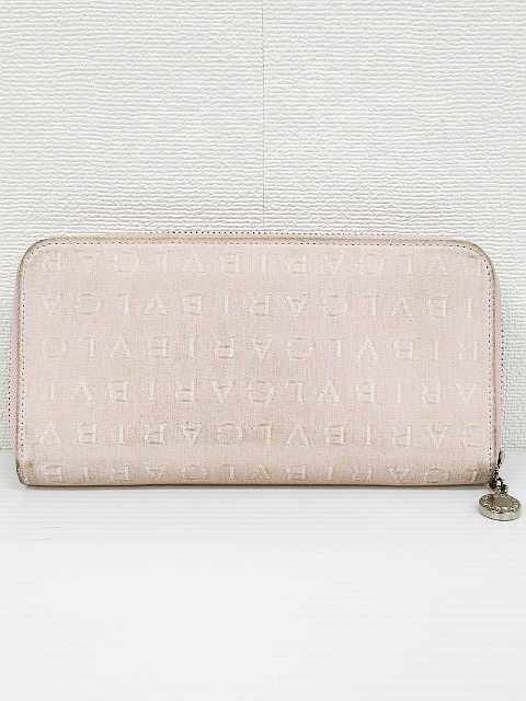 8690034bc88f ブルガリ BVLGARI ロゴマニア 長財布 ウォレット ラウンドファスナー キャンバス ペールピンク 白 レディース