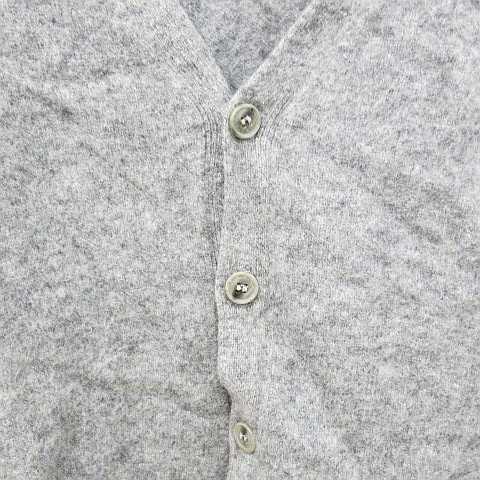 無印良品 良品計画 ニット カーディガン Vネック 無地 単色 ウール アルパカ混 長袖 グレー L 秋冬 レディース