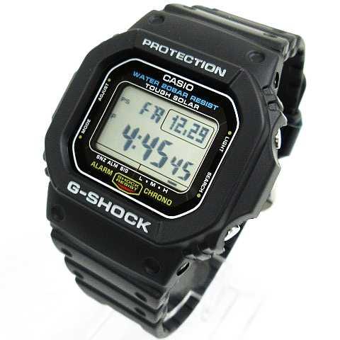 reputable site d061b cde6b カシオジーショック CASIO G-SHOCK 3160 G-5600E デジタル腕時計 タフソーラー ショックレジスト 黒 メンズ