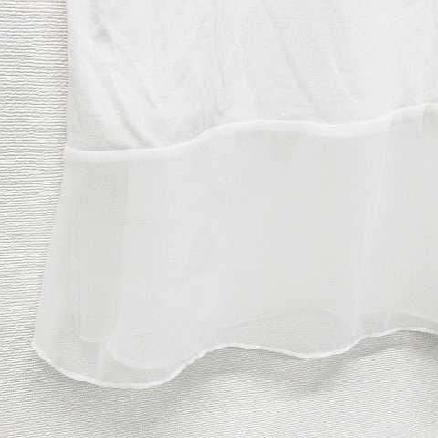 レプシィム ローリーズファーム LEPSIM LOWRYS FARM アンサンブル カットソー チュニック レース コットン混 半袖 白 L レディース