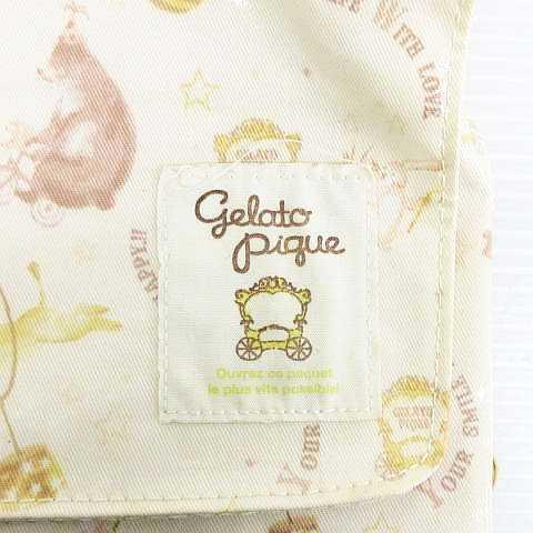 ジェラートピケ gelato pique おむつ替えシート ポーチ ケース アニマルサーカス柄 マルチカラー レディース