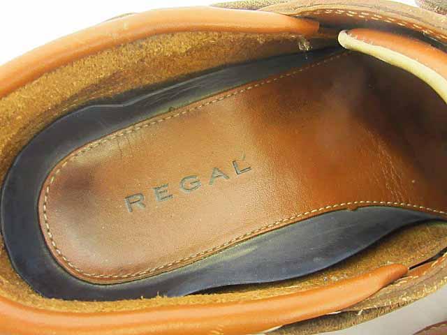 リーガル REGAL デッキシューズ モカシン レザー 茶 ブラウン 40 0224 メンズ