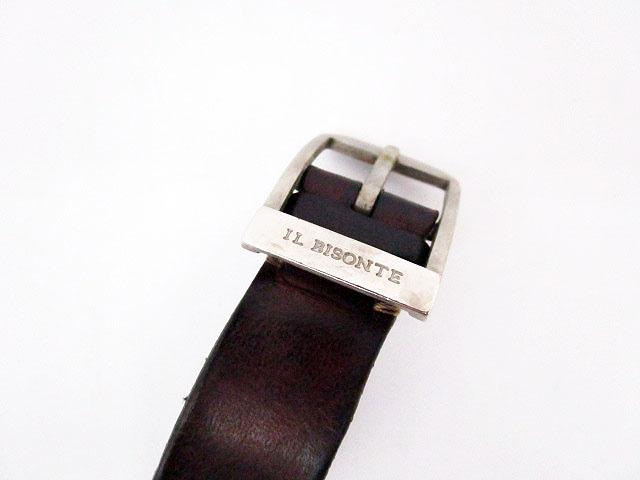 イルビゾンテ IL BISONTE 腕時計 ウォッチムーブメント クォーツ 5422310297 シルバー ベルト レザー /yt メンズ