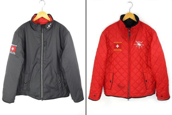 ce99c048340f1 ポロ ラルフローレン POLO RALPH LAUREN リバーシブル キルティング ジャケット 黒 赤 LL 刺繍 中綿入り メンズ