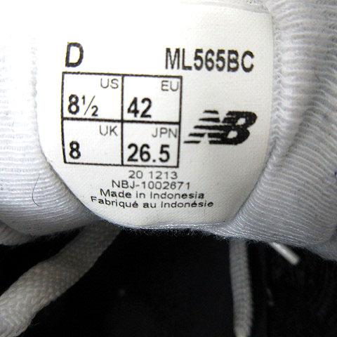 b1b9fdf16acd94 ... ニューバランス NEW BALANCE ML565BC スニーカー スエード ブラック 黒 グレー 26.5 メンズ ...