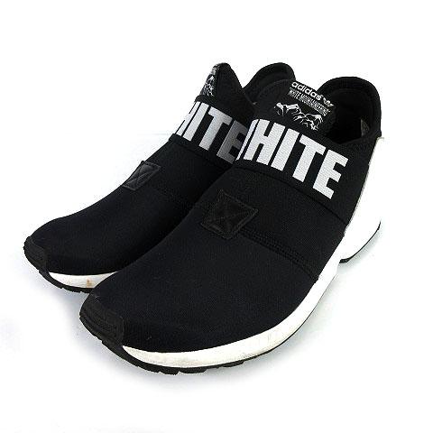 e73dc9b2c43402 アディダス adidas WHITE MOUNTAINEERING AQ3270 ZX FLUX PLUS スニーカー 黒 白 25.5 メンズ