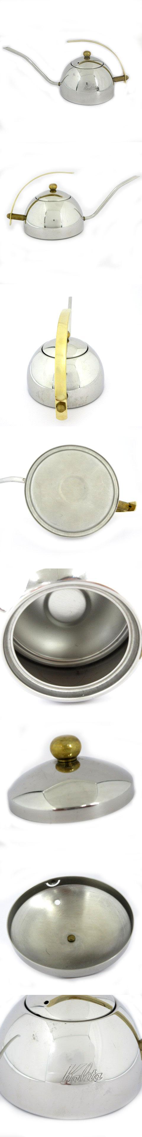 カリタ Kalita コーヒポット 細口 ドリップコーヒー 日本製 ステンレス シルバー ゴールド