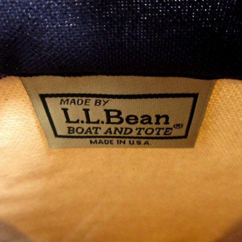 エルエルビーン L.L.BEAN トートバッグ キャンバス オフ白 ネイビー 紺 レディース