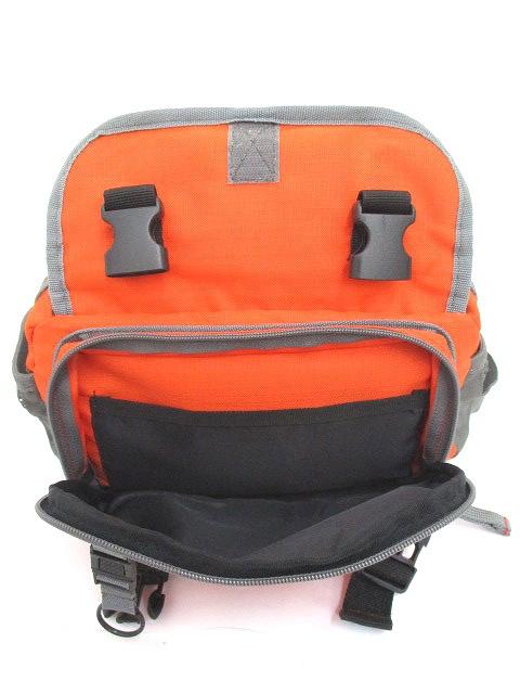 ヘインズ Hanes ウエストポーチ ヒップバッグ メッシュ ロゴ バイカラー オレンジ グレー レディース メンズ/r メンズ レディース