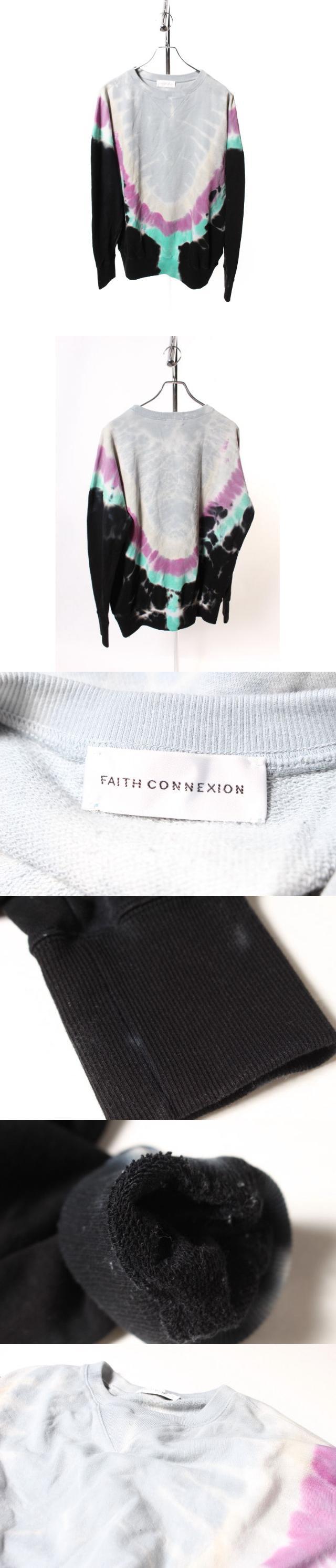 フェイスコネクション Faith Connexion TIE AND DYE スウェット 長袖 クルーネック 総柄 XS マルチ btm0518