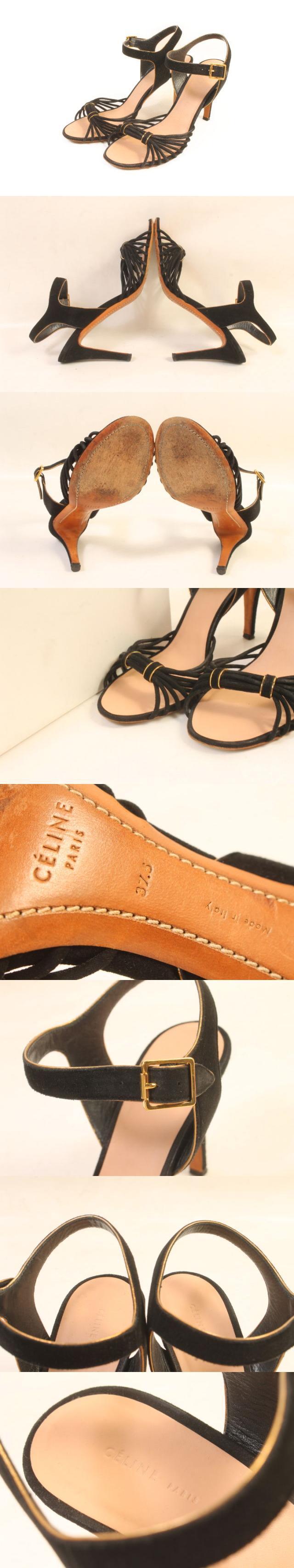 靴 サンダル ストラップ 37.5 黒 ブラック /sa0521