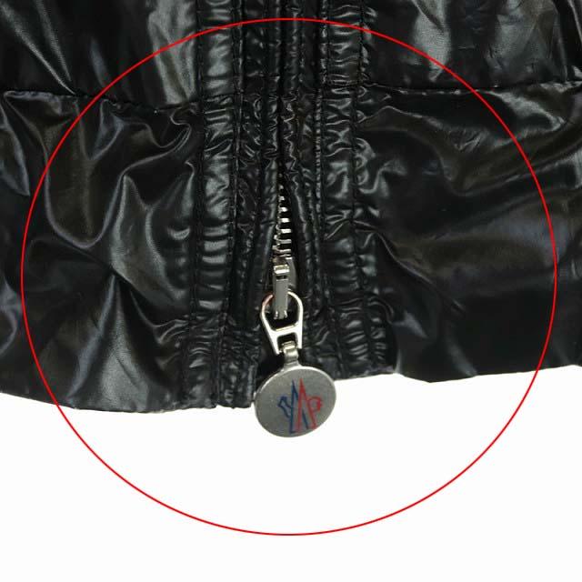 モンクレール MONCLER ジャケット ブルゾン ナイロン ジップアップ スタンドカラー ロゴワッペン 国内正規 2 黒 ブラック /AA メンズ