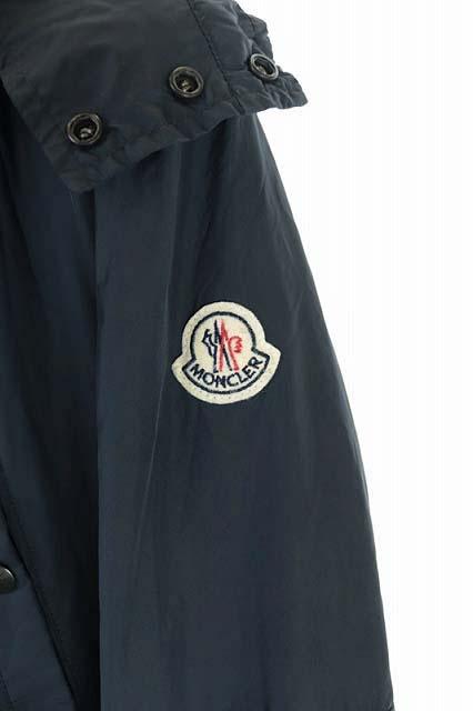 モンクレール MONCLER 15SS ARSAN GIUBBOTTO コート ジップアップ フード付き ミドル丈 ロゴワッペン 国内正規 2 紺 ネイビー /AA メンズ
