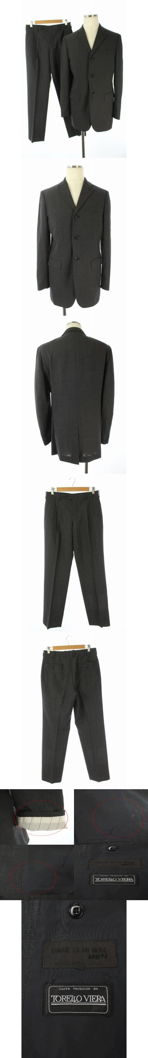 セットアップ ジャケット テーラード 背抜き パンツ センタープレス 2 グレー /HH