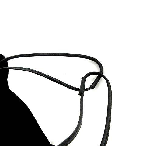 ラドロー LUDLOW バッグ ハンド 巾着 ベロア 黒 ブラック /KH レディース