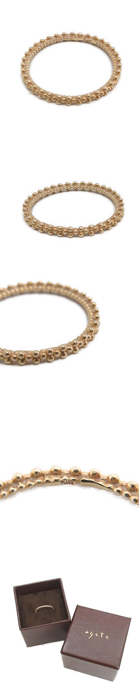 バブルリング 指輪 K10 11号 ゴールド色 /OG25