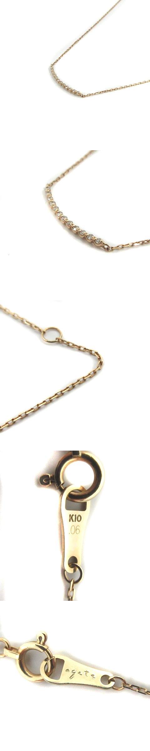 ネックレス ペンダント ダイヤモンド0.06ct K10 イエローゴールド /KS22