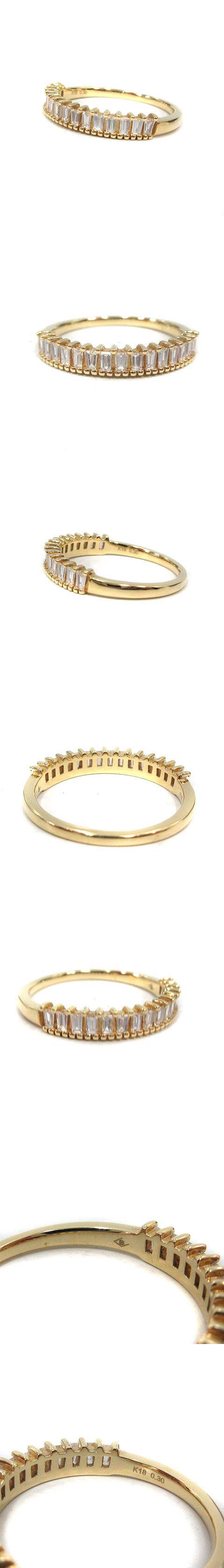 BELLESIORA ベルシオラ リング 指輪 バゲットカットダイヤ 0.3Ct 9号 K18YG イエローゴールド 40094311003 /SR40