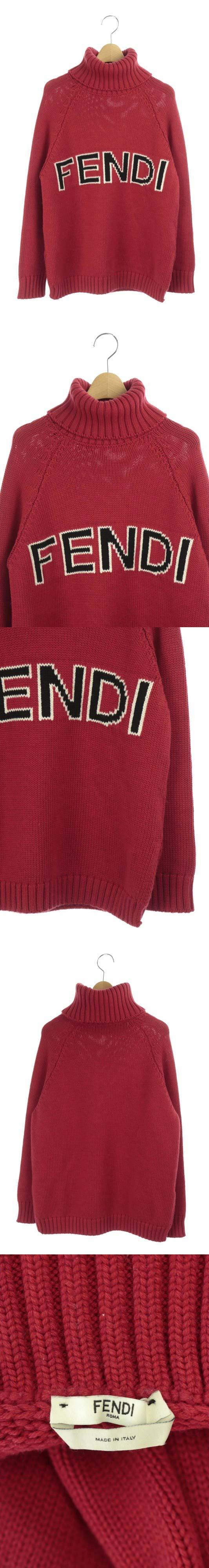 18AW ニット セーター タートルネック 長袖 36 赤 /DF ■OS