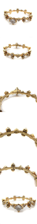 指輪 リング ステラエタニティー ダイヤモンド 0.11ct 0.13ct K18YG 7号 ゴールド /YO4