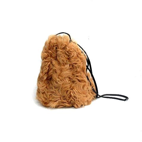 ラドロー LUDLOW バッグ 巾着 ラムファー 茶 ブラウン /AK39 レディース