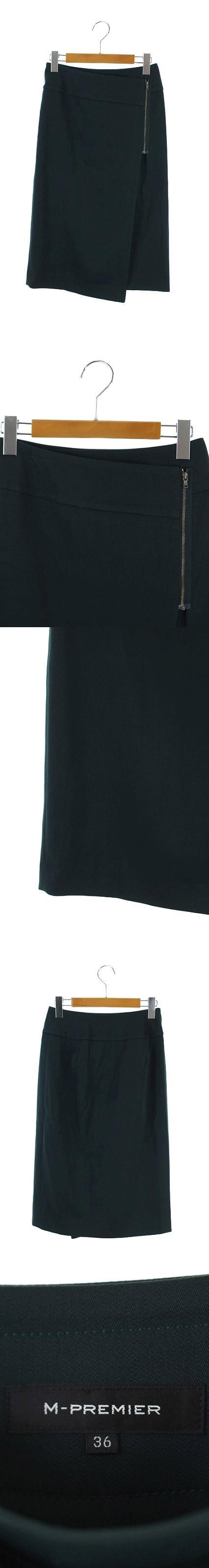 17AW スカート ラップ ロング タイト ジップ 36 モスグリーン 深緑 /ES ■OS