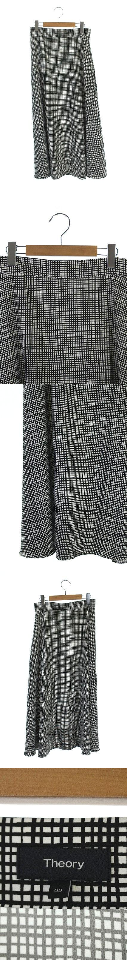 19SS スカート ロング フレア 00 白 黒 /HH ■OS