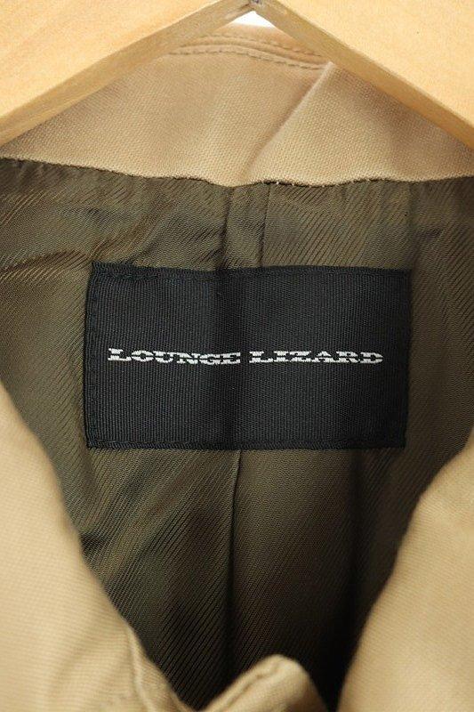 ラウンジリザード LOUNGE LIZARD ジャケット コート ステンカラー FINX BUGGY SATIN WASHER BAL COLLER 2 ベージュ /AO ■OS メンズ