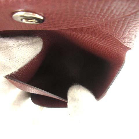 エルメス HERMES 財布 小銭入れ コインケース 二つ折り バスティアGM レザー 茶 ブラウン 刻印C /KH メンズ レディース