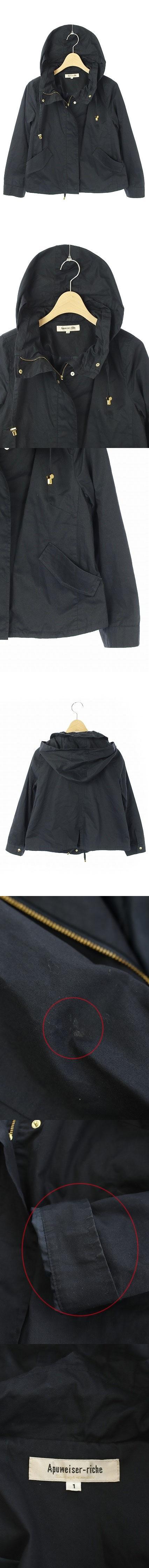 19SS ジャケット マウンテンパーカー ショートブルゾン ジップアップ 1 紺 /YS ■OS ■SH
