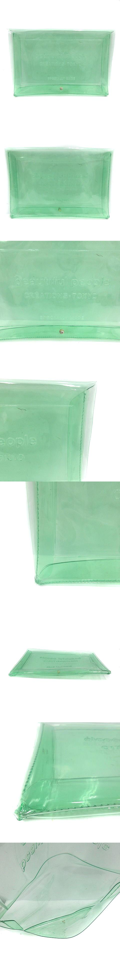 バッグ クラッチ クリアエンボスビニール ロゴ クリア 緑 グリーン /SR