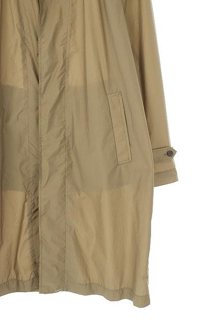 ランバン LANVIN ナイロン混スプリングコート ステンカラー 薄手 46 モカ 茶 /ES ■OS ■AD メンズ