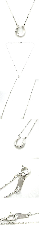 ネックレス ペンダント ホースシュー ダイヤ K10 ホワイトゴールド /AK29