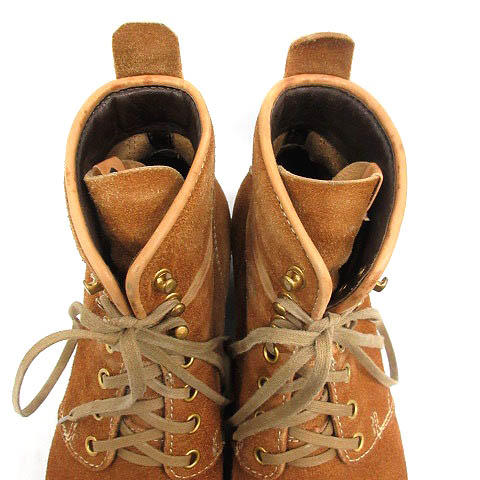 ビズビム VISVIM ブーツ ワーク ショート スエード レースアップ Folk Zermatt 8.5 茶色 ブラウン /SR ■AD メンズ